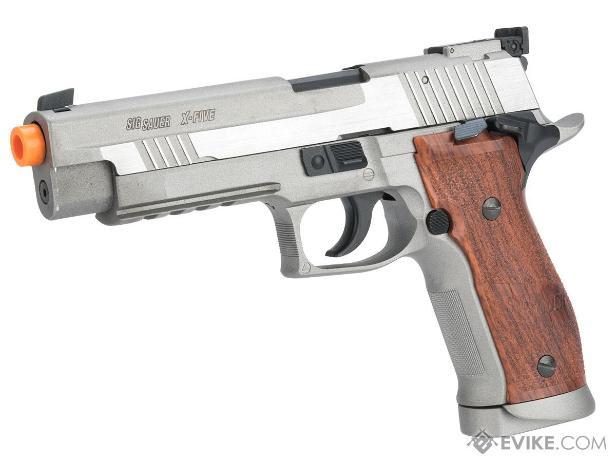 SIG Sauer X-Five CO2 Powered Blowback Airsoft Pistol (Color: Stainless)
