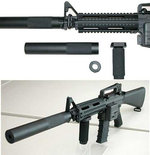 Full Metal SD-Type Mock Silencer for Airsoft AEG