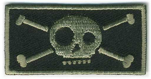 Matrix IFF Tactical Ghost Skull Hook and Loop Patch 50mm x 25mm