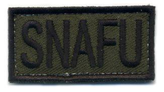 SNAFU Hook and Loop Morale Patch (OD)