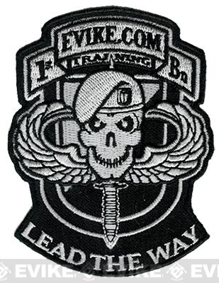 Evike.com Ranger Hook and Loop Patch (Color: Black and White)