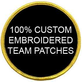 Customized Embroidered Patches for Teams, Companies and other Groups - 50 Patches