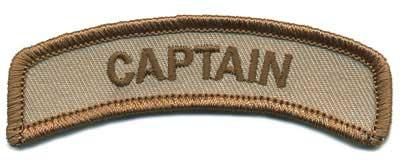Matrix Captain Tab Hook Backed Morale Patch (Tan)
