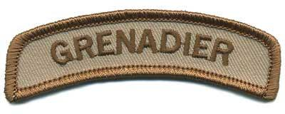 Matrix Grenadier Tab Hook Backed Morale Patch (Tan)