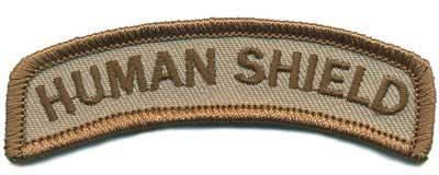 Matrix Human Shield Tab Hook Backed Morale Patch (Tan)