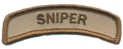 Matrix Sniper Tab Hook and Loop Backed Morale Patch (Tan)