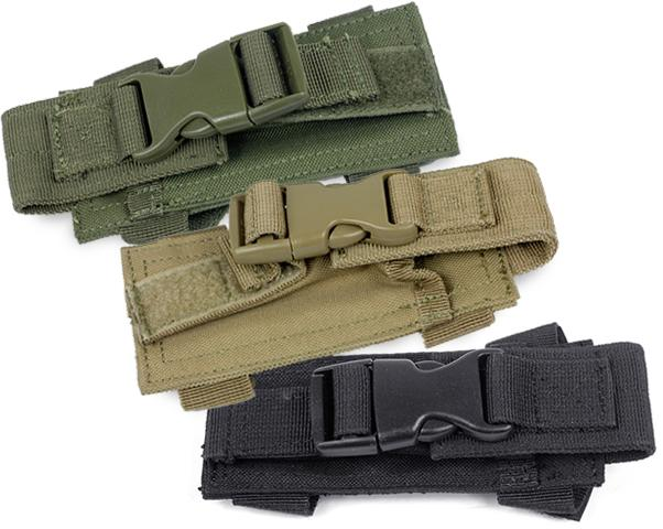 Horizontal MOLLE / Belt Mounted Pistol Magazine Pouch (Color: Tan)