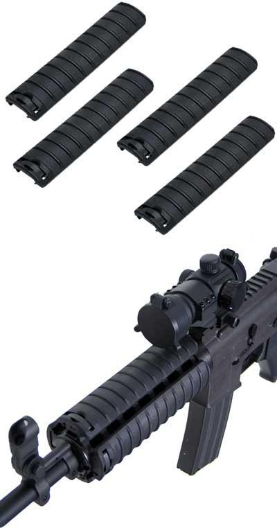 Special Force Tactical Hand Guard Rail Cover Pancel Set for Airsoft  - Set of 4 (Color: Black)