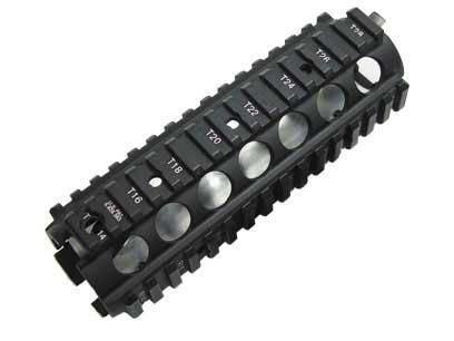 Matrix Rail Interface System for M4 Series Airsoft AEG w/ Laser Engraving & Heat Sink Plate