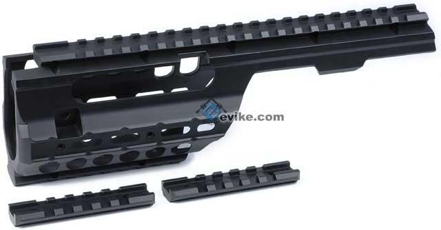 Matrix CNC Aluminum Full Metal MP5 K / PDW Rail Interface System for Airsoft AEG
