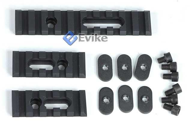 Matrix Triple Rail Set w/ Screws for PTS / MOE / MASADA / ACR Handguards - Black