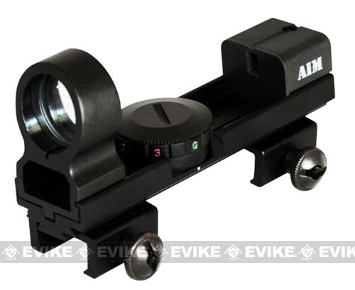 AIM Sports 1x25 Real Steel Illum. Quick AIM Red & Green Dot Sight Scope (Weaver & Dove Tail Mount)