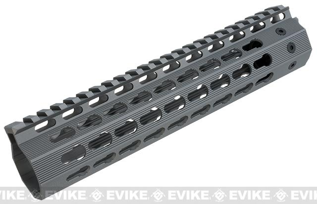Strike Industries Gen2 Mega Fins Free Float Drop-In Keymod Handguard for M4 / M16 / AR15 Series Rifles (Color: Grey / 9)