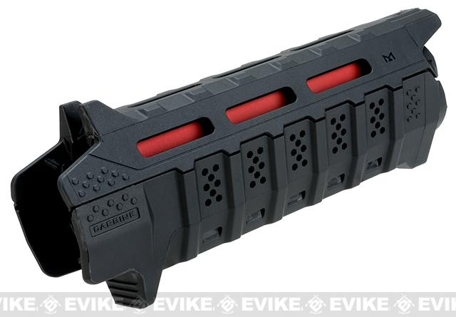 Strike Industries Viper Carbine Length Polymer Hanguard w/ M-Lok System - Black with Red Heat Shield