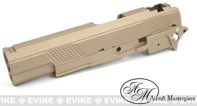 Airsoft Masterpiece Shay Akai Spike ver. Standard Slide and Frame Kit  for Tokyo Marui Hi-CAPA - Dark Earth