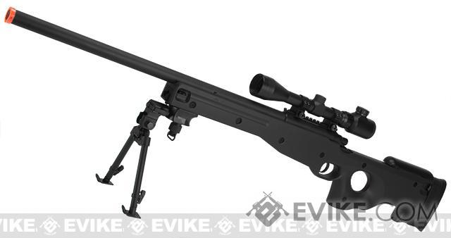 AGM Type 96 Airsoft Bolt Action Sniper Rifle (Color: Black - Package B)