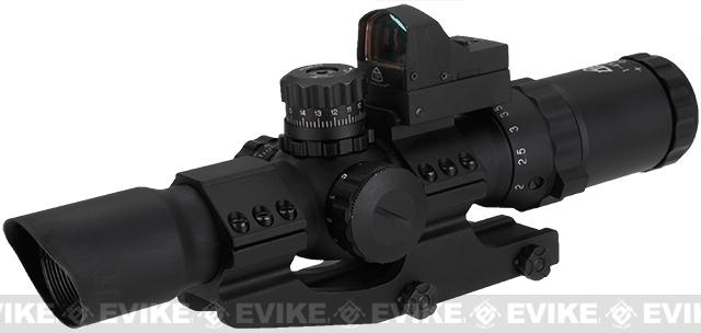 z Trinity Force Assault 1-4x28 Illuminated Tactical QD Scope (Red/Green/Blue) w/ Micro Dot - Small Cross