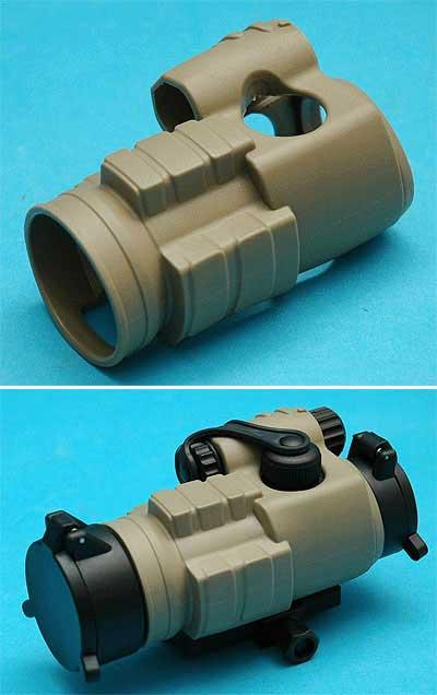 US Special Forces 30mm Aim Point Type Red Dot Sight Rubber Cover - Desert