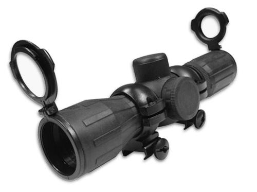 NC STAR 4x30 Rubber Coated Full Metal Illuminated Cross Hair Mildot Scope w/Rings