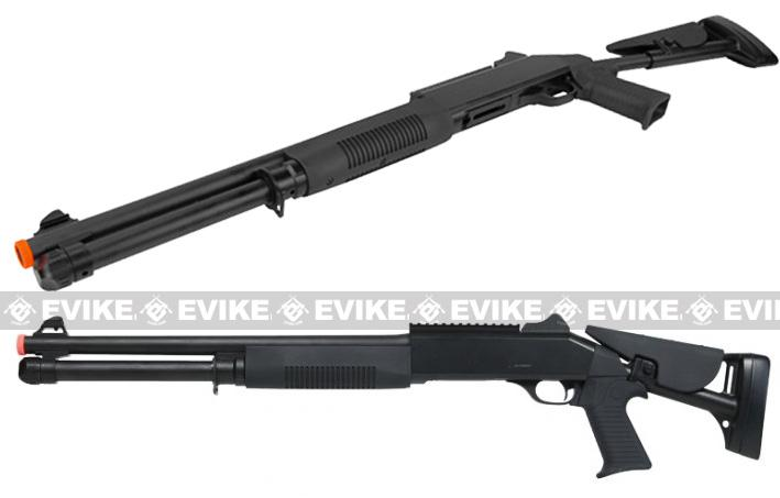 Double Eagle M3 3-Round Burst Multi-Shot Shell Loading Airsoft Shotgun (Model: Retractable Stock)