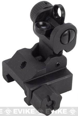 APS Battle Type QD Folding Rear Sight for Airsoft AEG