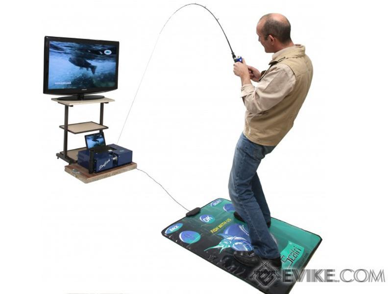 Scatri SimFish Fishing Simulation System (Package: With All Fish and Mat)