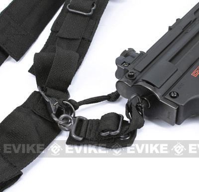 Sling_KA_SL_1805_BK 2 king arms mp5 mp7 sub machine gun type mag pouch & sling (black