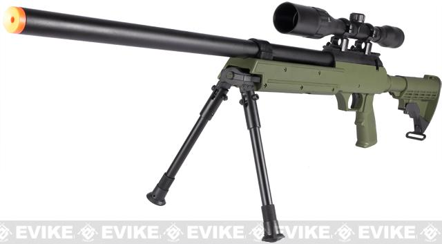 Matrix ASR SR-2 Shadow Op Bolt Action Airsoft Sniper Rifle w/ LE Stock & Bipod - OD Green (Package: Rifle)