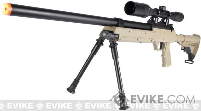 Matrix ASR SR-2 Shadow Op Bolt Action Airsoft Sniper Rifle w/ LE Stock & Bipod - Desert Tan (Package: Rifle)