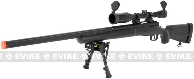 Echo1 M28 Bolt Action Airsoft Sniper Rifle w/ Bipod (Color: Black)