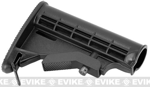LE Stock for M4 / M16 Series Airsoft AEG Rifles by G&P G&G Matrix - Black