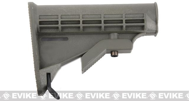 Matrix LE Retractable Stock for M4 / M16 Series Airsoft AEG - OD Green