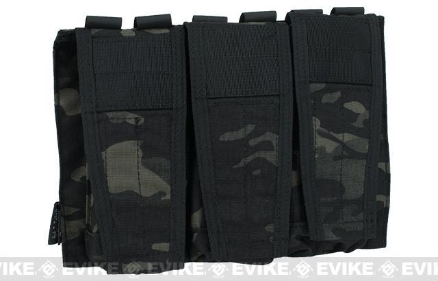 Avengers MOLLE AVS Style M4 / M16 Triple Mag Pouch - Multicam Black