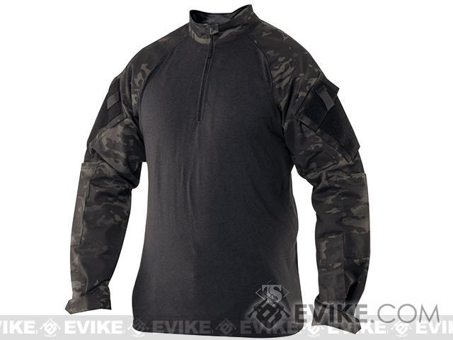 Tru-Spec Tactical Response Uniform 1/4 Zip Combat Shirt - Multicam Black (Size: Small)