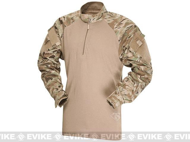 Tru-Spec Tactical Response Uniform 1/4 Zip Combat Shirt - All-Terrain Tiger Stripe (Size: Medium)