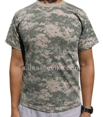 Mens ACU Digital Poly Cotton Camouflage T-Shirt (Size: Medium)