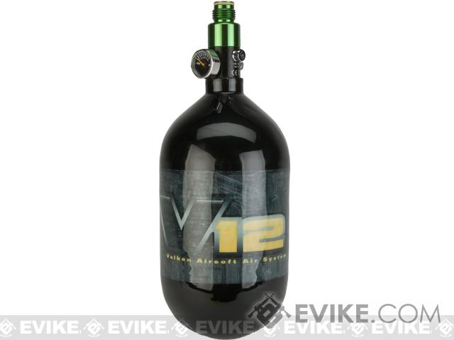 Valken V12 SLP 68/4500  HPA Air Tank w/ Regulator (Carbon Fiber)