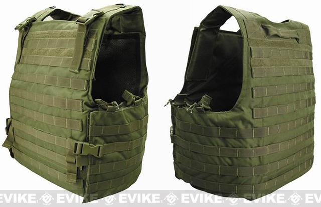 Condor Plate Carrier MOLLE System Ready Body Armor Vest - OD Green