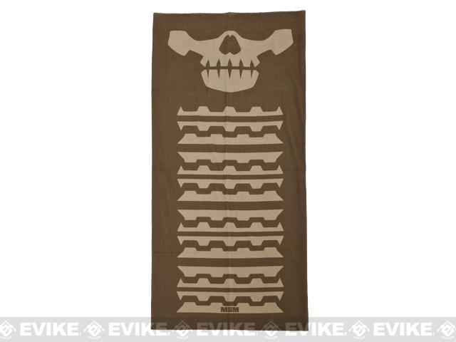 Mil-Spec Monkey Multi Wrap Neck Gaiter (Design: Skull Mask / Dusty Brown)