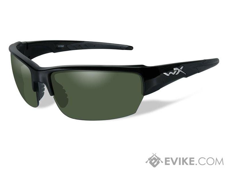 Wiley X Saint Sunglasses (Color: Polarized Smoke Green lens with Gloss Black frame)