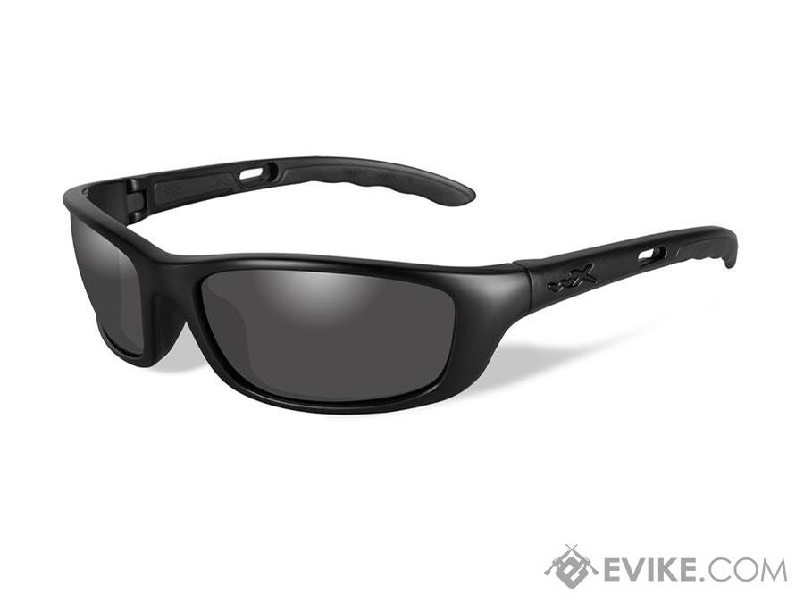 Wiley X P-17 Black Ops Sunglasses (Color: Smoke Grey lens with Matte Black frame)