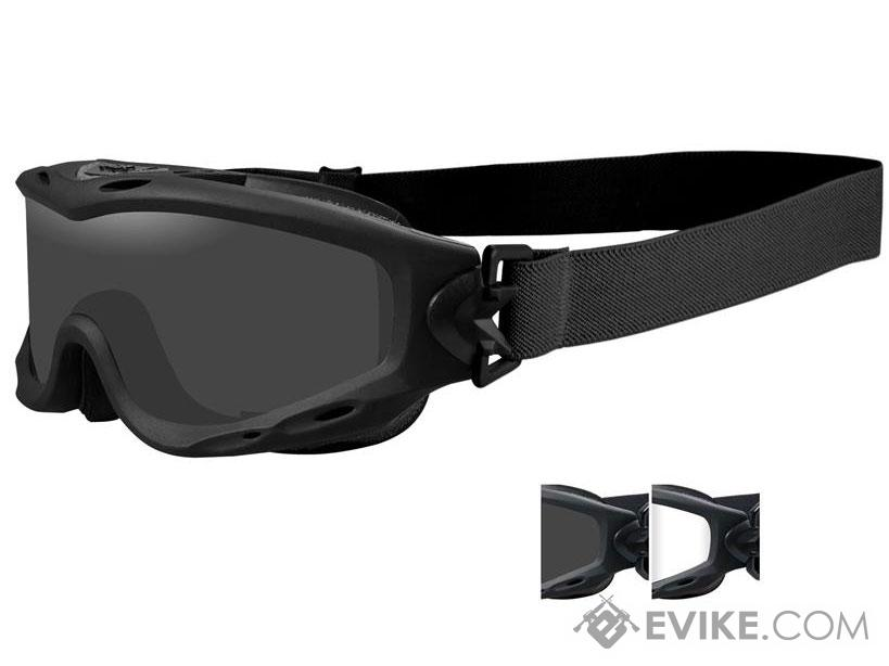 466ed963f34c8 Wiley X Spear Tactical Goggle (Color  Smoke Grey and Clear Lens w ...
