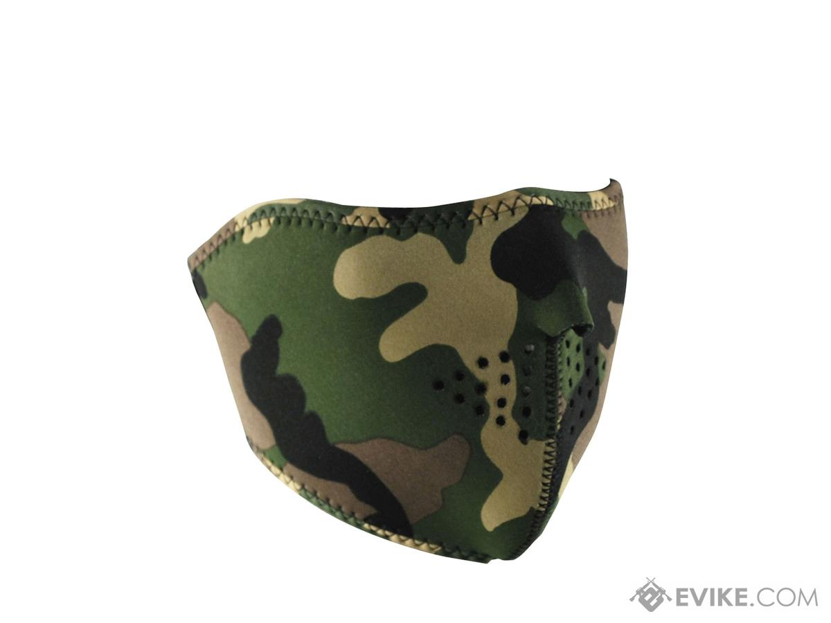 Zan Neoprene 1/2 Face Mask (Color: Woodland Camo)