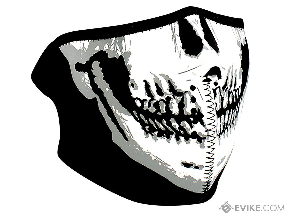 Zan Neoprene 1/2 Face Mask (Color: Glow In The Dark, Skull Face)