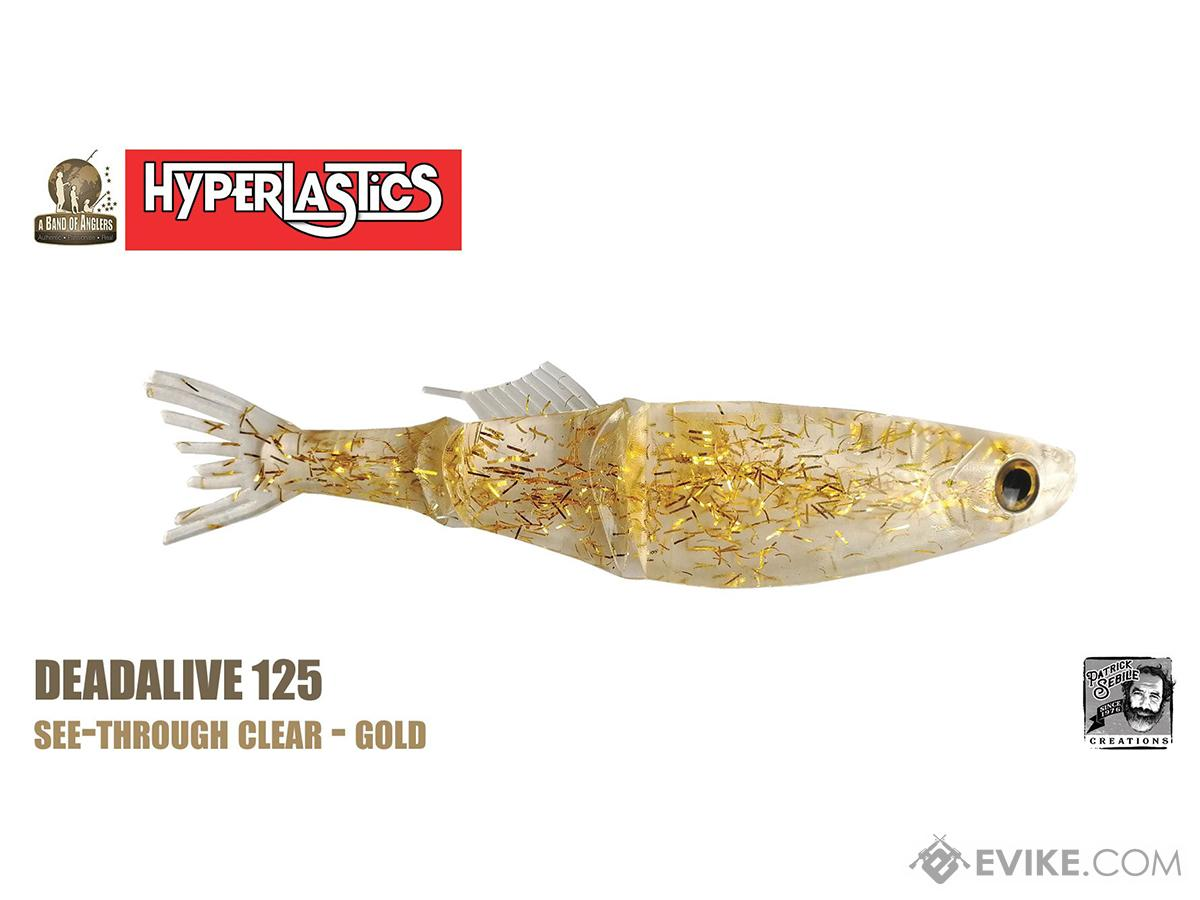 Hyperlastics Deadalive Swimmer 125 Fishing Swimbait (Color: See-Through Clear Gold)