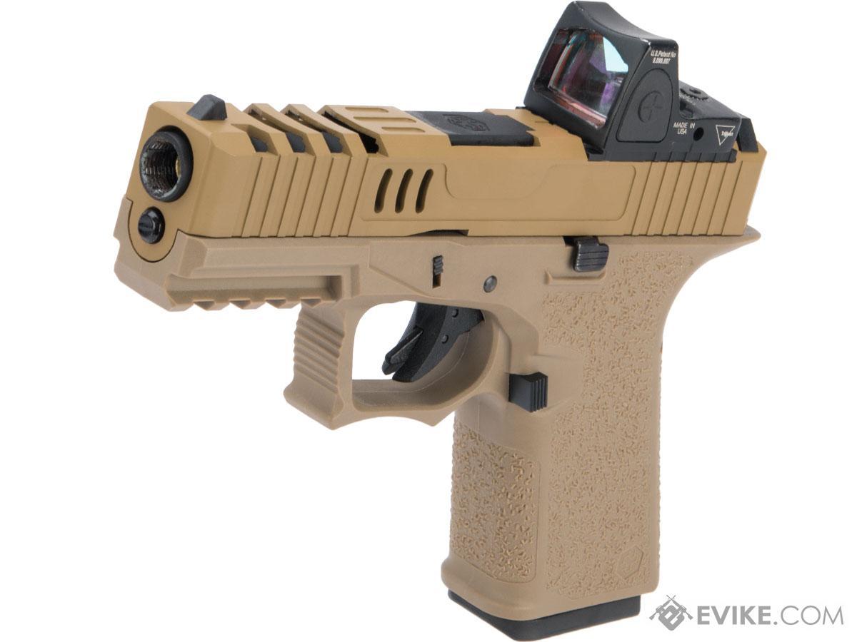AW Custom VX9 Compact Series Gas Blowback Airsoft Pistol (Model: X80 - Optic Ready / FDE)