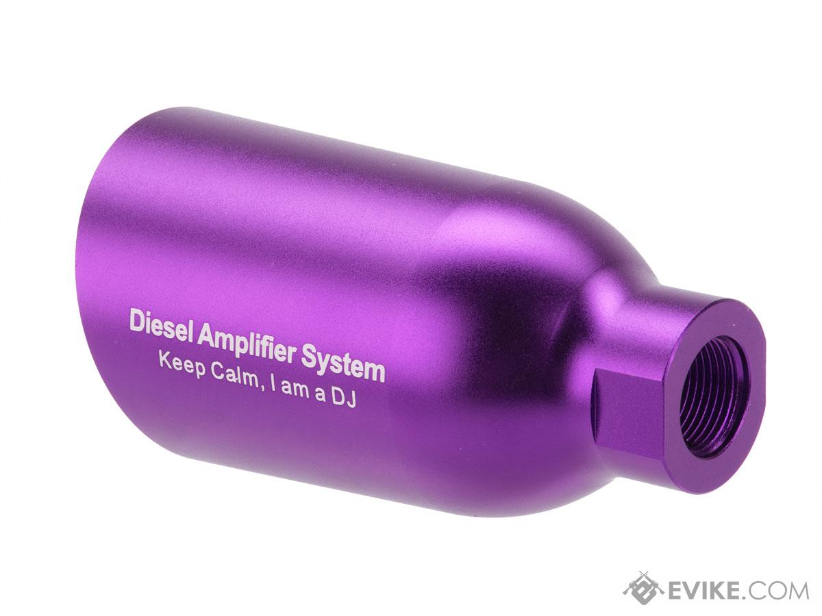 Angel Custom Diesel Amplifier System for Airsoft Pistols and Rifles (Type: DJ / Purple / 14mm CCW)