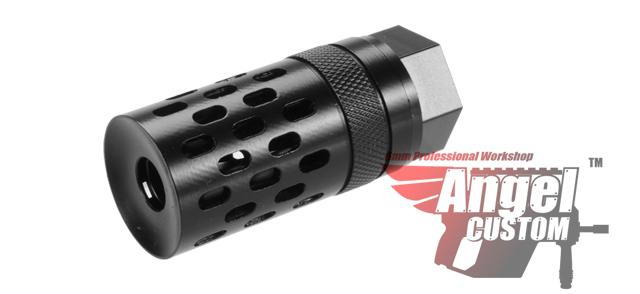 Angel Custom Guardian Hybrid 14mm Negative Convertible CNC Steel Airsoft Flash Hider