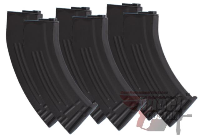 Angel Custom SR-47 Type 400rd Hi-Cap Magazine for M4 M16 Series Airsoft AEG (Package: Set of 6)