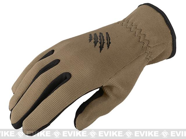 Armored Claw Quick Release Tactical Glove - Tan (Size: X-Large)